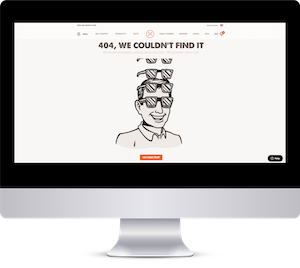 Dollar Shave Club 404 Error Message